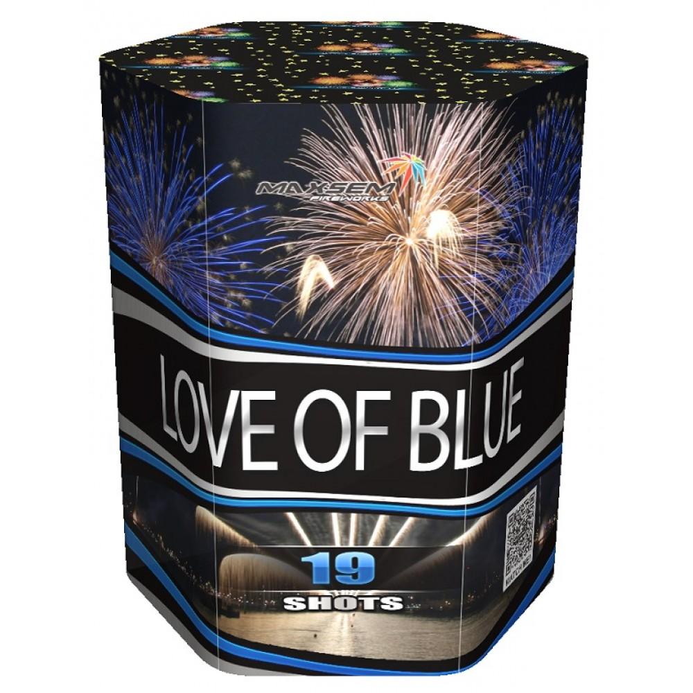 "ФЕЙЕРВЕРК LOVE OF BLUE (1,2"" / 19 ЗАЛПОВ)"