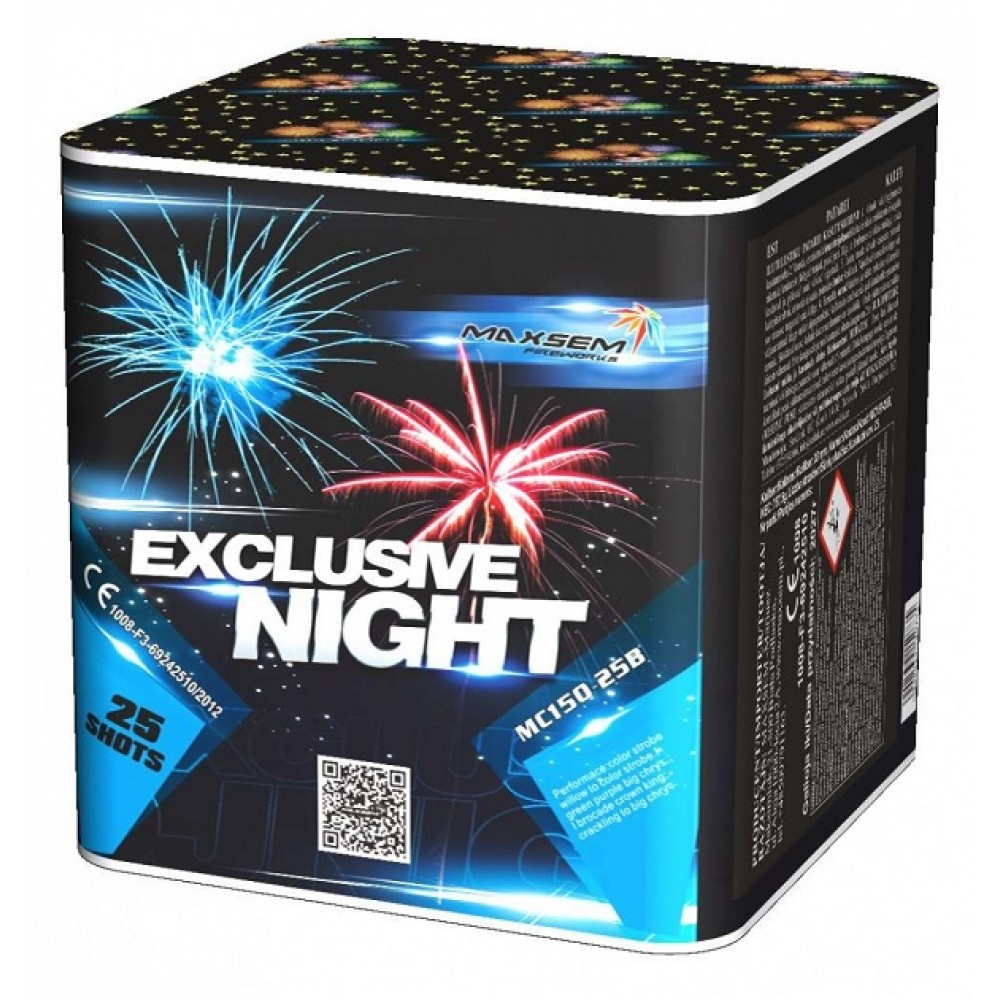 "ФЕЙЕРВЕРК EXCLUSIVE NIGHT (1,5""/ 25 ЗАЛПОВ)"