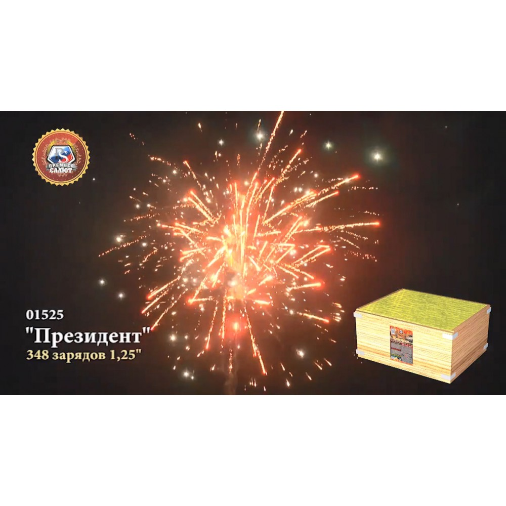 ФЕЙЕРВЕРК ПРЕЗИДЕНТ (1,2/ 348 ЗАЛПОВ)